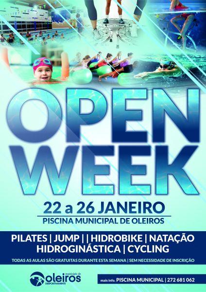Open week na piscina municipal geopark naturtejo for Piscina municipal oleiros
